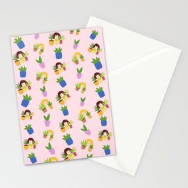 Plant ladies Stationery Cards