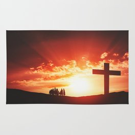 Good friday easter concept Rug
