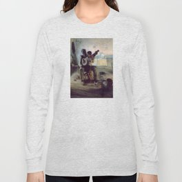 The Banjo Lesson by Henry Ossawa Tanner Long Sleeve T-shirt