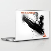 battlestar galactica Laptop & iPad Skins featuring LED GALACTICA by ClevaGurl
