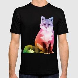 Sitting Rainbow Fox T-shirt