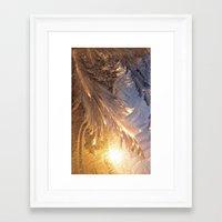 frozen Framed Art Prints featuring Frozen by Joke Vermeer