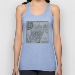 Map of Moscow - 1745 Unisex Tank Top