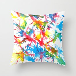 Colors Squirt Throw Pillow