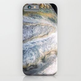 Jupiter Surface Long Range Fly-By Telescopic Photograph iPhone Case