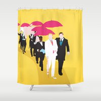 gatsby Shower Curtains featuring Gatsby by Fräulein Fisher