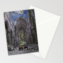 Church in forest Stationery Cards