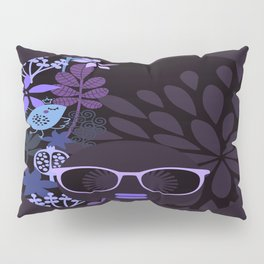 Afro Diva : Sophisticated Lady Purple Lavender Pillow Sham