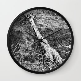 African Giraffe - Through The Woods And Through The Trees Wall Clock