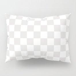 Checker (Platinum/White) Pillow Sham