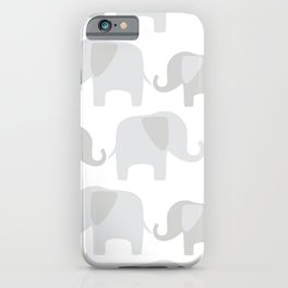 Elephant pattern iPhone Case