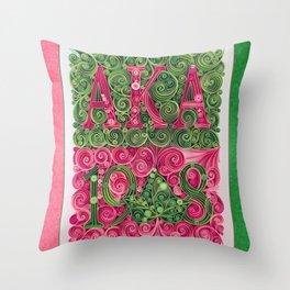 Alpha Kappa Alpha 1908 Throw Pillow