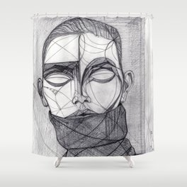 Alisa Ahmann by Txema Yeste - Artist: Leon 47 ( Leon XLVII ) Shower Curtain