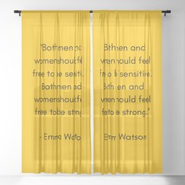 FEEL FREE TO BE SENSITIVE - FEMINIST QUOTE Sheer Curtain
