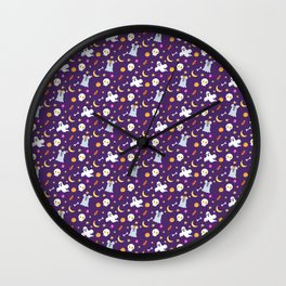 Halloween Mouse Ears Ghosts Wall Clock