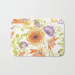Floral print for spring Badematte