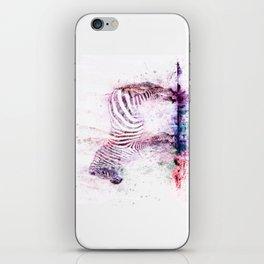 Watercolor Wash Zebra iPhone Skin