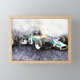 Jim Clark, Lotus 49, 1968 Framed Mini Art Print