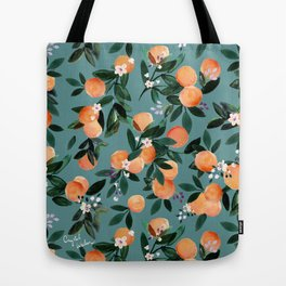 Dear Clementine - oranges teal by Crystal Walen Tote Bag