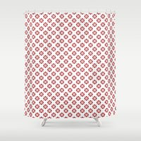 flower pattern Shower Curtains featuring Flower Pattern by Kings in Plaid