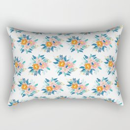 Floral Bloom Bundle in Blue Rectangular Pillow