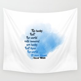 Immoral Books | Oscar Wilde Wall Tapestry