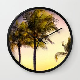 PURPLE AND GOLD SKIES 3 Wall Clock