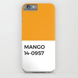 Mango Orange Pantone Chip iPhone Case