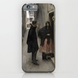 A Street in Venice by John Singer Sargent - Vintage Fine Art Oil Painting iPhone Case