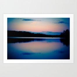 Boundary Waters Sunset Lake Photography Art Print