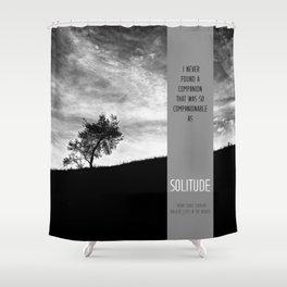Henry David Thoreau - Solitude Shower Curtain