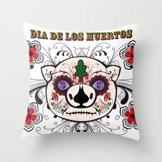 Berto: Dia de los muertos (Day of the dead) Throw Pillow