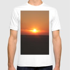 Sunset in Wiltshire England Mens Fitted Tee MEDIUM White