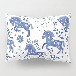 Delft Blue Horses Pillow Sham