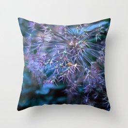 purple alliums Throw Pillow