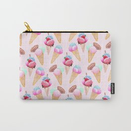 Ice cream Pattern summer cool watercolor Carry-All Pouch