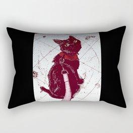 Cat on a Leash Rectangular Pillow