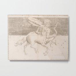 Johann Bayer - Uranometria / Measuring the Heavens (1661) - 28 Sagittarius Metal Print
