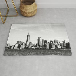 New York City Skyline Photography Rug