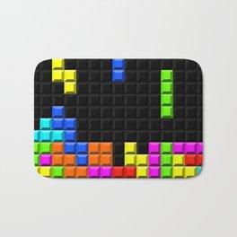 Retro Video Game Blocks Pattern Bath Mat