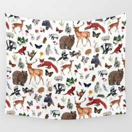 Wild Woodland Animals Wall Tapestry
