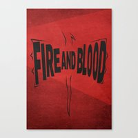 daenerys targaryen Canvas Prints featuring House Targaryen - Fire and Blood by Jack Howse