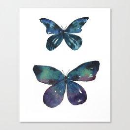 Jewel Butterflies Watercolor Canvas Print