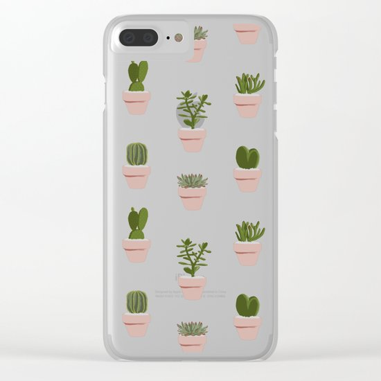 Cacti & Succulents Clear iPhone Case