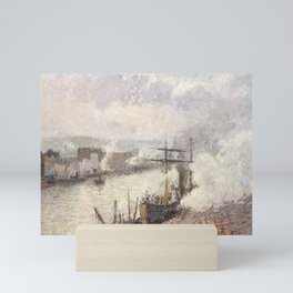 Camille Pissarro - Steamboats in the Port of Rouen, 1896 Mini Art Print