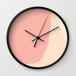 Minimal Light Salmon Peach Wall Clock
