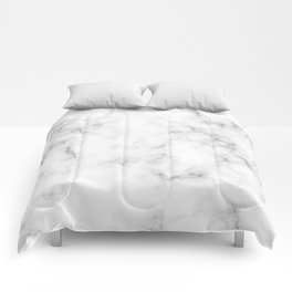 The Perfect Classic White with Grey Veins Marble Comforters