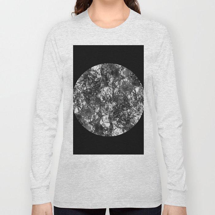 Silver Moon - Abstract, textured silver foil lunar design Long Sleeve T-shirt