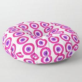 Evil Eye Amulet Talisman in Pink Floor Pillow