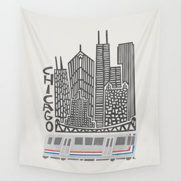 Chicago Cityscape Wall Tapestry